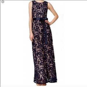 Adrianna Pappell Navy lace mermaid gown size 10